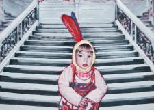 all_dressed_up_stairway_to_heaven-maleri-painting-goje-rostrup-2010