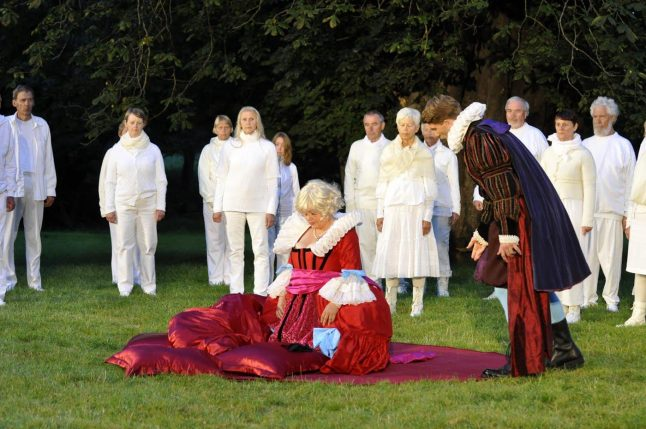 POPPEAS KRONING/ THE CORRONATION OF POPPEA, Den Fynske Opera at Valdemars Castle, 2012, photographer: Knud Mortensen