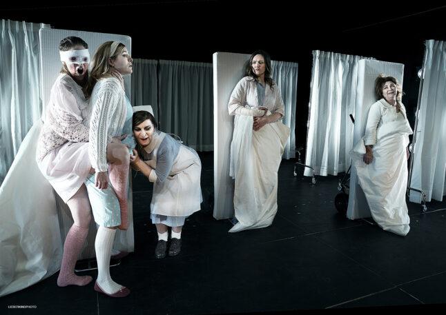 DEN SIDSTE GUD/ THE LAST DEITY - Teater V, De Damer, 2018 - scenograf Gøje Rostrup